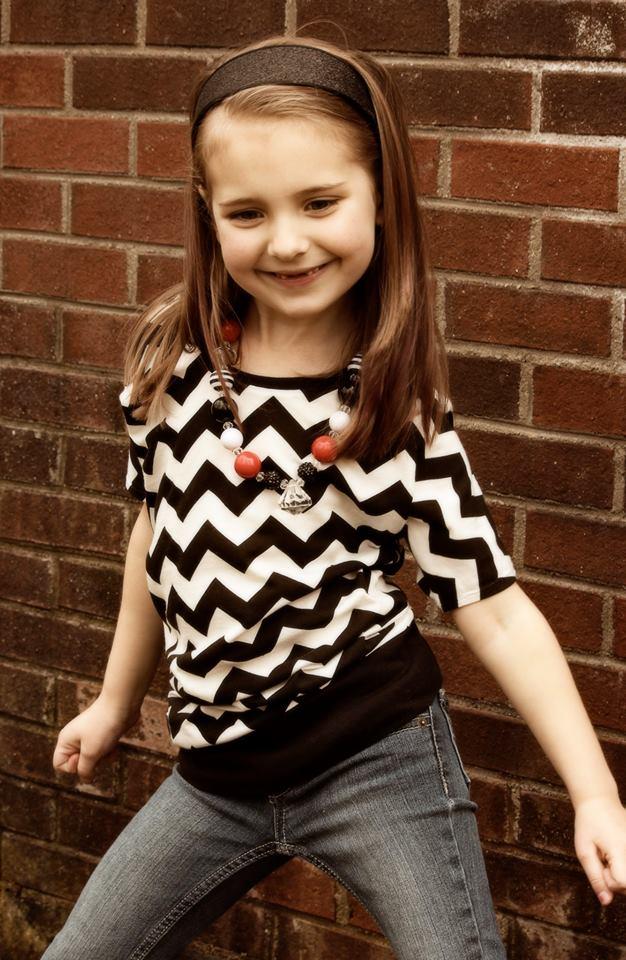 Girls Asymmetrical Drape Top Nb 18 Tween Everything