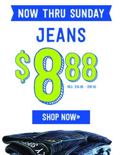 Kids Jeans from Crazy 8 only $8.88!