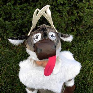 FREE Sven Inspired Goofy Reindeer Costume Tutorial & Pattern