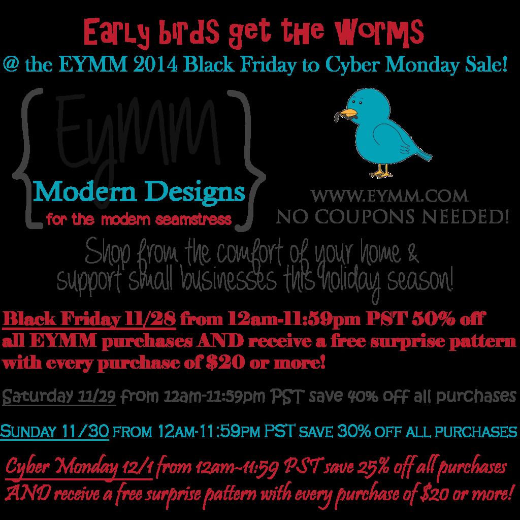 Black Friday 2014  #EYMM #DIY Sewing Patterns