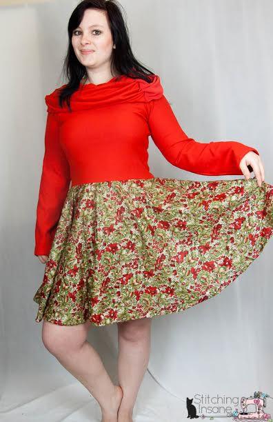 EYMM Off The Shoulder Dress & Peplum #EYMM #DIY #Sewing
