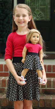 #EYMM #DIY Capsule Skirt for girls & dolls NB-18 Tween www.eymm.com