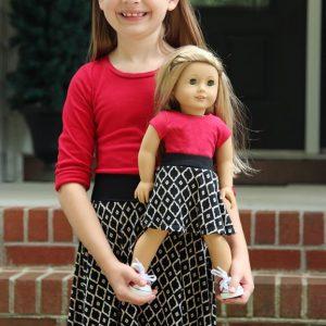 Girl's Capsule Skirt (NB-18 & Doll)