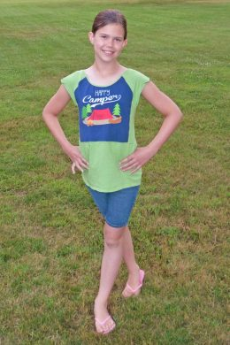 Hack: Riley's Nightgown to Upcycled Raglan Tee