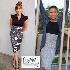 EYMM Timeless Pencil Skirt Women & Girls Bundle www.eymm.com