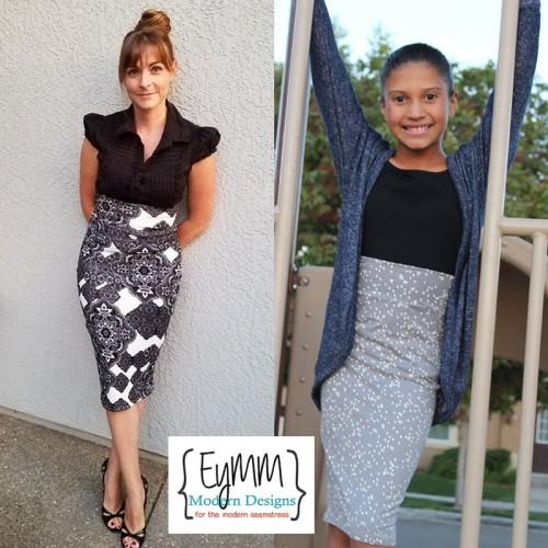 EYMM Timeless Pencil Skirt Women & Girls Bundle www.eymm.com