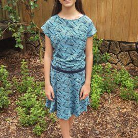 Carlie's Dolman-Capsule Skirt Dress for a Teen